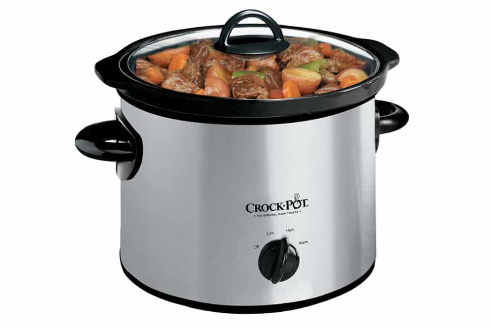 Crock Pot 3 Quart Round Manual Slow Cooker, best size crock pot for family of 4