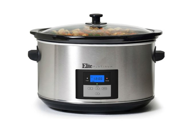 elite platinum 8.5 qt programmable slow cooker