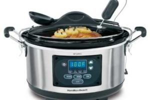 6- Quart Hamilton Beach set and forget slow cooker