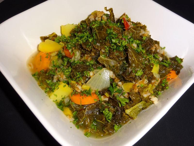 hotpot kale with spelt