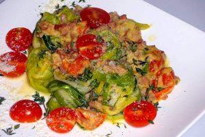 Leek Noodles A La Carbonara